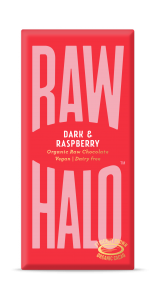 Raw Halo Dark & Raspberry ORG Raw Choc (10x70g)