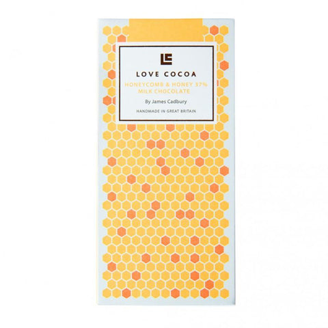 Love Cocoa - Honeycomb & Honey Organic Milk Chocolate Bar (12 x 80g)