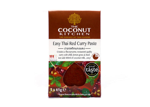 The Coconut Kitchen Easy Thai Red Curry Paste Sachet (6 x 2x65g))