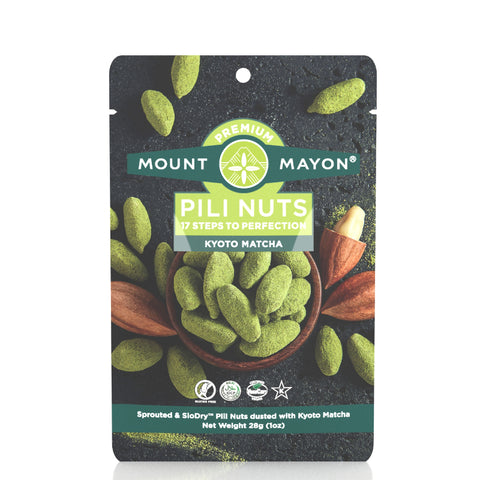 Mount Mayon Pili Nuts with Kyoto Matcha (12x28g)