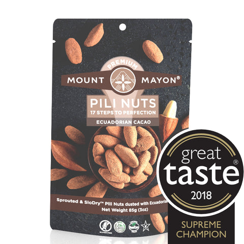 Mount Mayon Pili Nuts with Ecuadorian Cacao (12x85g)