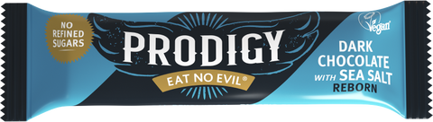 Prodigy Snacks Limited - 60% Dark Chocolate with Sea Salt Chocolate bar (24x35g)