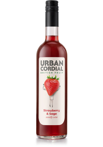 Urban Cordial - Strawberry & Sage (6x500ml)
