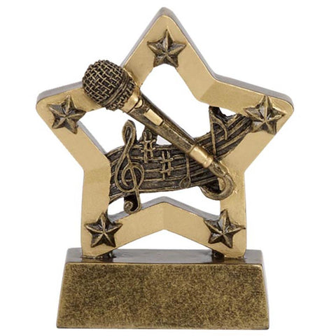 Mini Stars Microphone Trophy