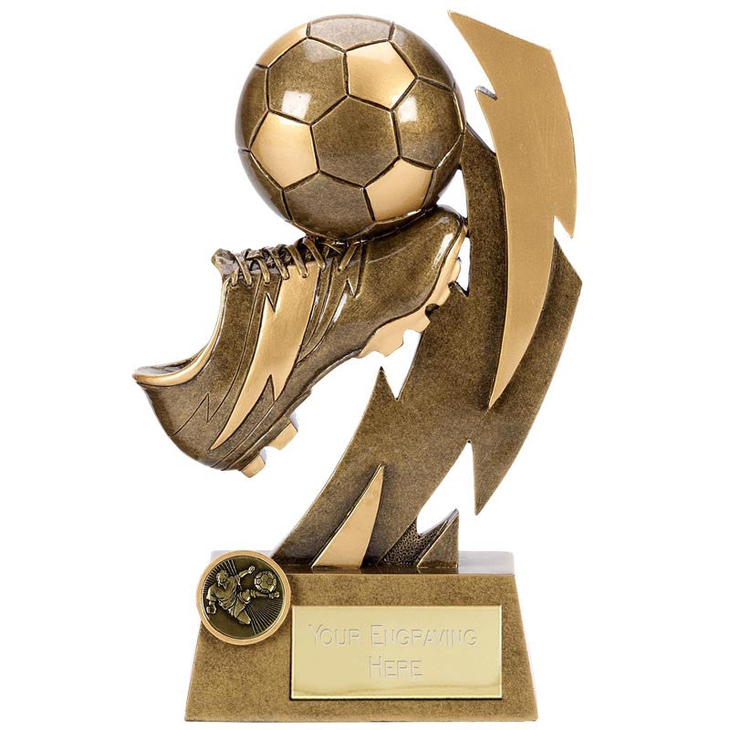 Gold Flash Football Boot - Ace Trophies