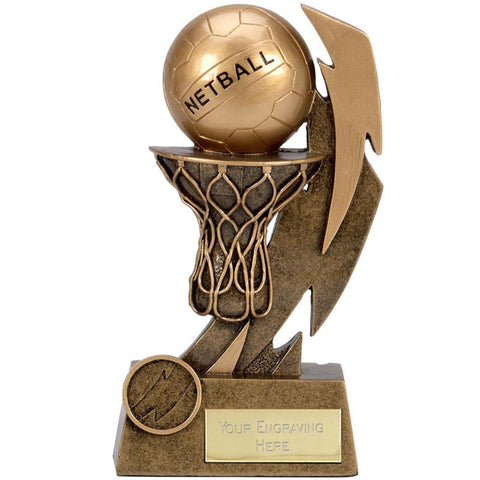 Gold Flash Netball Trophy - Ace Trophies
