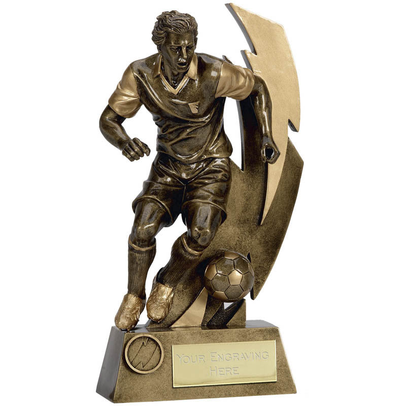 Gold Flash Footballer Trophy - Ace Trophies