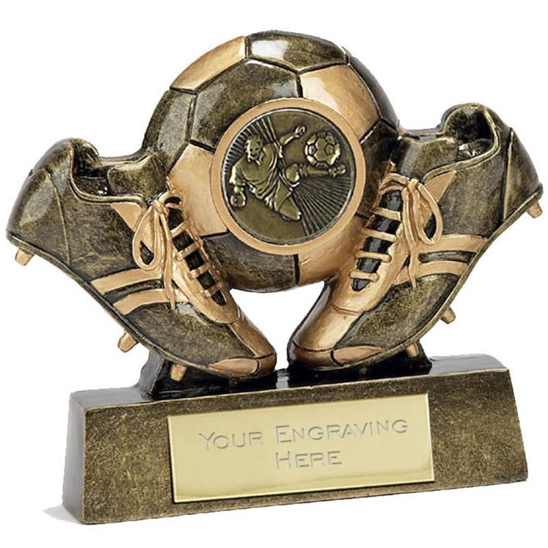 Micro Boot & Ball Football Trophy - Ace Trophies