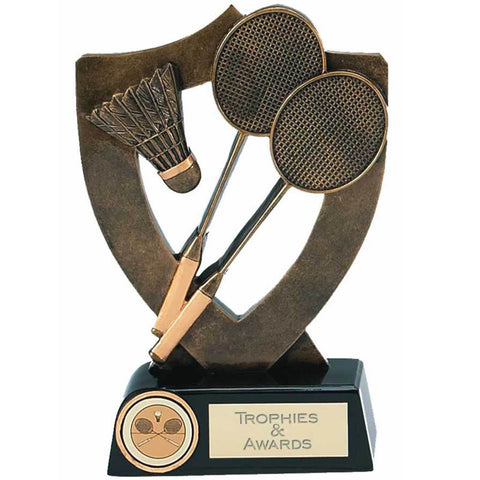 Celebration Shield Badminton Trophy - Ace Trophies