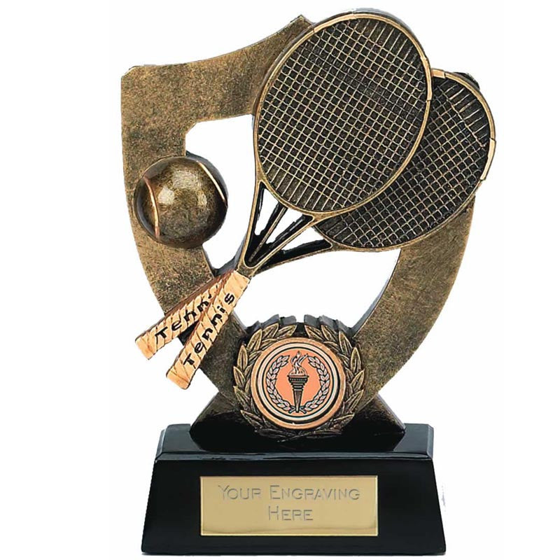 Celebration Shield Tennis Trophy - Ace Trophies
