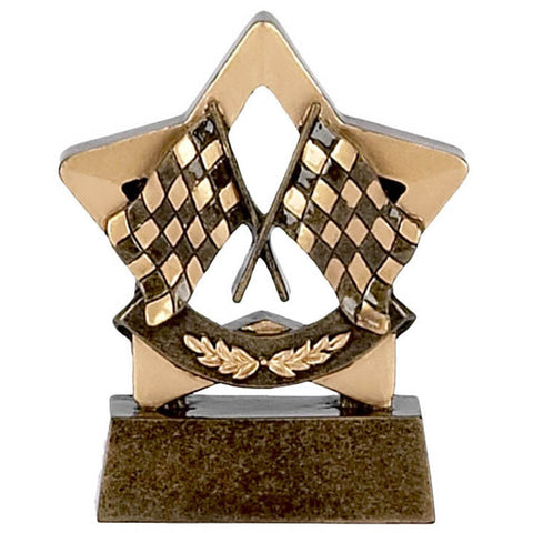 Mini Stars Racing Flags Trophy - Ace Trophies