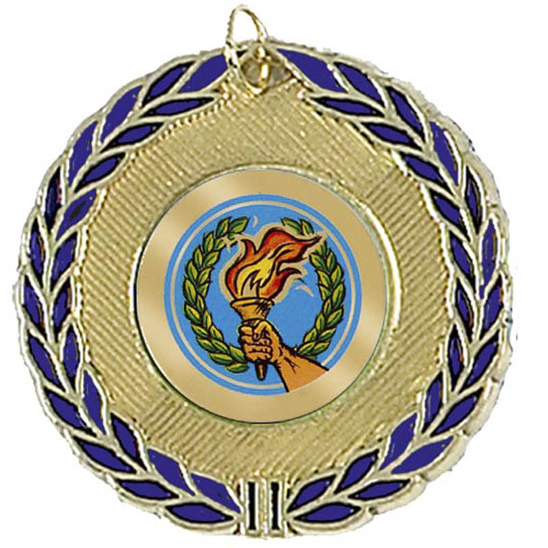 Blue Wreath 50 Medal - Ace Trophies