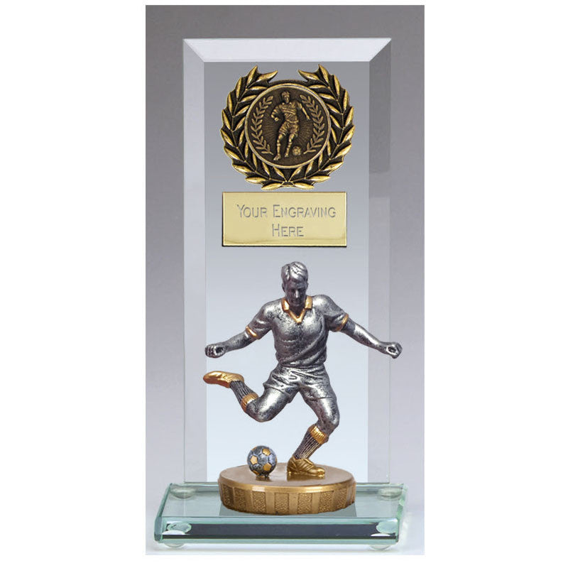 Core Jade Glass Football Trophy - Ace Trophies