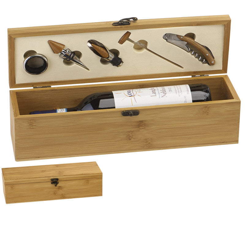 Bamboo Single Wine Presentation box - Ace Trophies