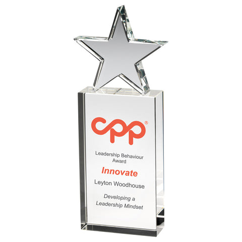 Clear Glass Star Award - Ace Trophies