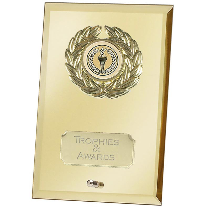 Crest Mirror Gold Glass Award - Ace Trophies