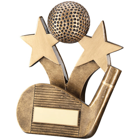 3D Golf Ball Wedge Trophy - Ace Trophies
