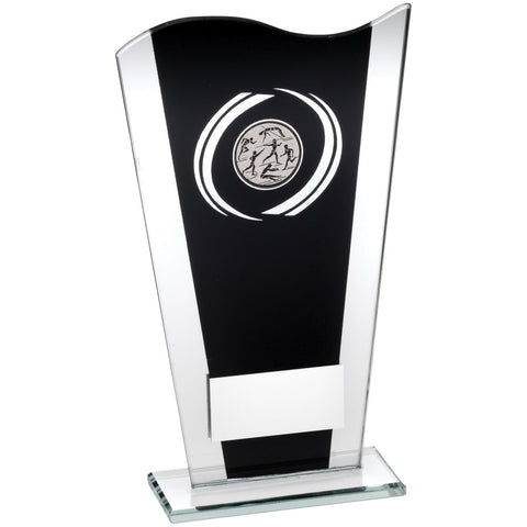 Black/Silver Athletics Glass Award - Ace Trophies