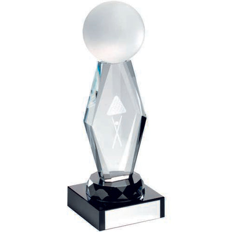 Clear/Black Glass Pool Snooker Award - Ace Trophies