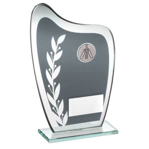 Grey/Silver Glass Cricket Award
