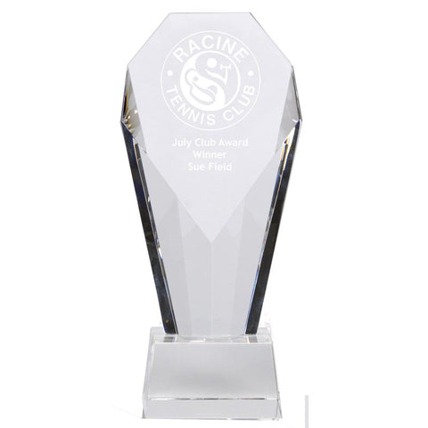 Achievment Diamond Optical Crystal Award - Ace Trophies
