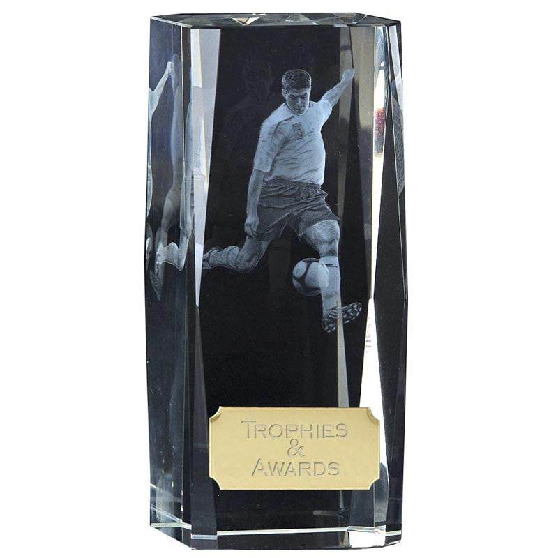 Clarity Football Optical Crystal  Trophy - Ace Trophies
