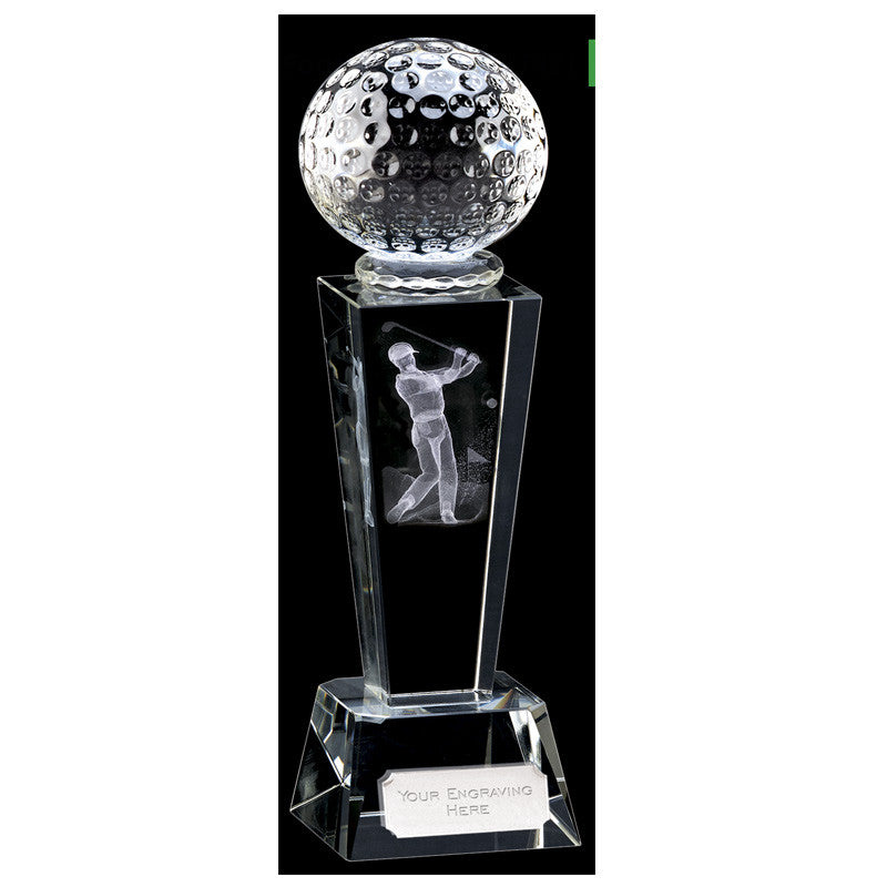 Unite Male Golfer Optical Crystal - Ace Trophies