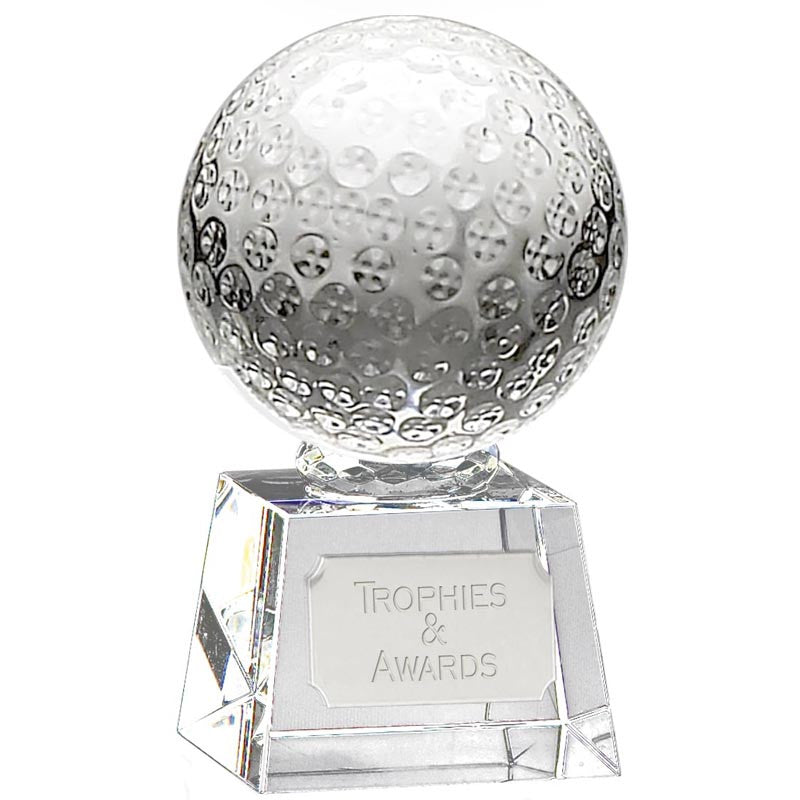 Victory Golf Ball Optical Crystal - Ace Trophies