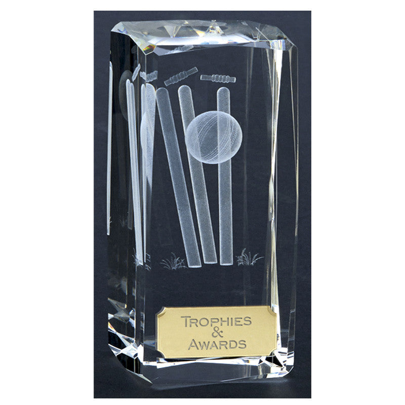 Clarity Cricket Glass Award - Ace Trophies
