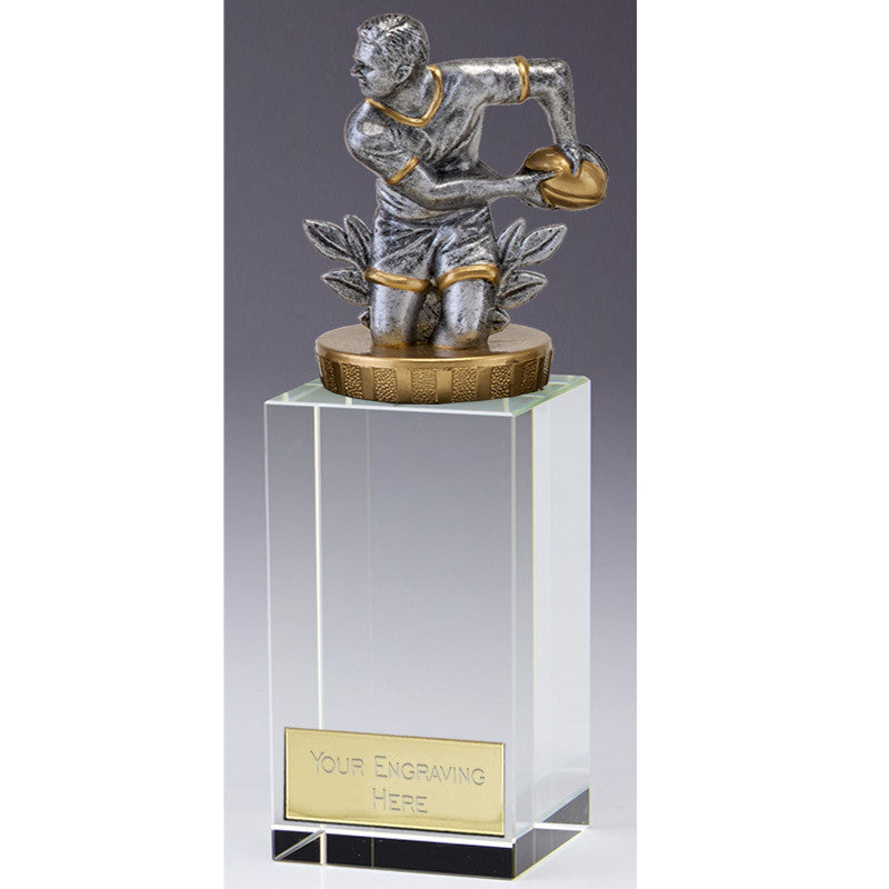 Crystal Merit Rugby Trophy - Ace Trophies