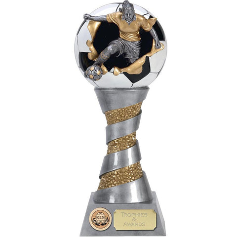 Xplode 3D Female Football Trophy
