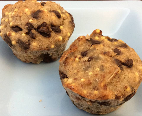Banana Chocolate Chip and Millet Energy Bombs