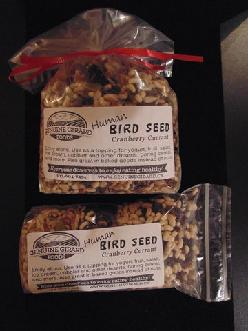 Cranberry Currant Human Bird Seed- now 100% organic!