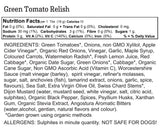 Green Tomato Relish (Garden-Grown and Low-GLycemic)