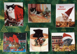 Christmas Kitties set of 6 Christmas cards