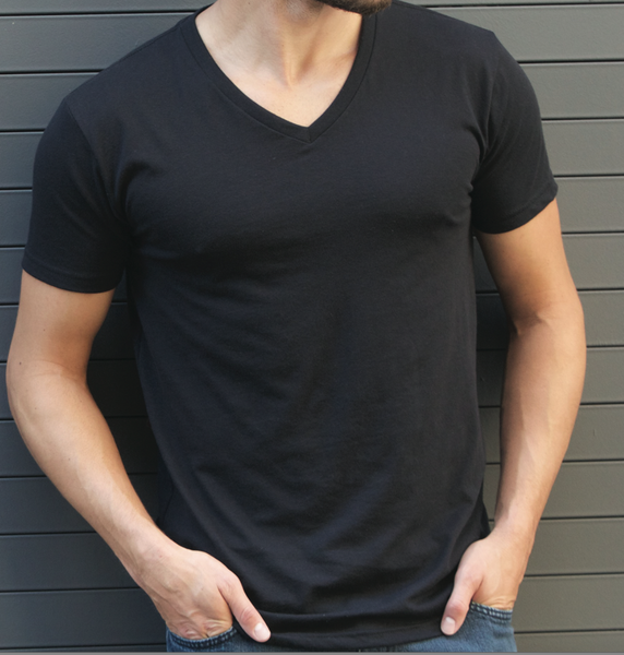 Men's Polyblend V-Neck