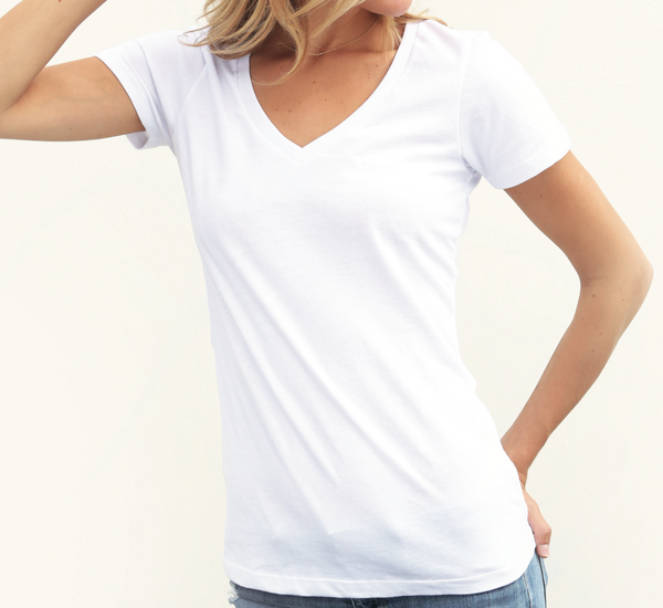 Women's Polyblend V-Neck