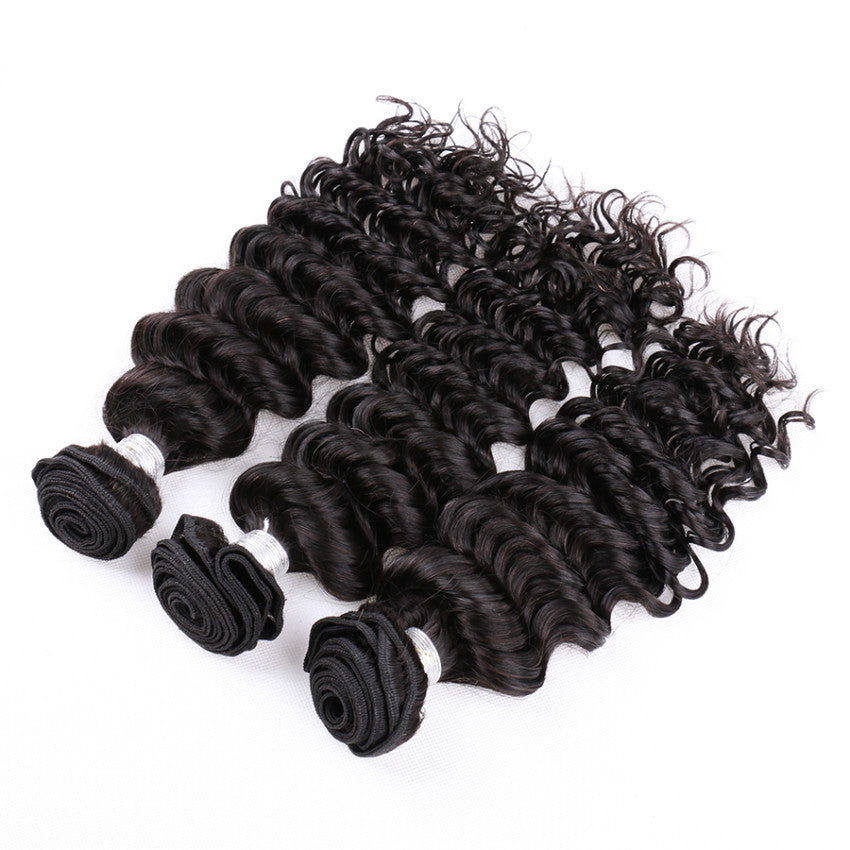 Luxury Deep Wave Bundle Deals - Natural Colour - London Virgin Hair