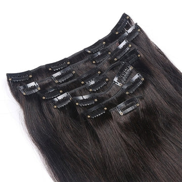 Luxury Straight Clip Ins - Natural Colour - London Virgin Hair