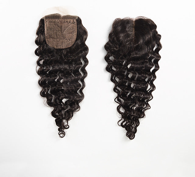 Luxury Deep Wave Closure - Middle-Part - London Virgin Hair