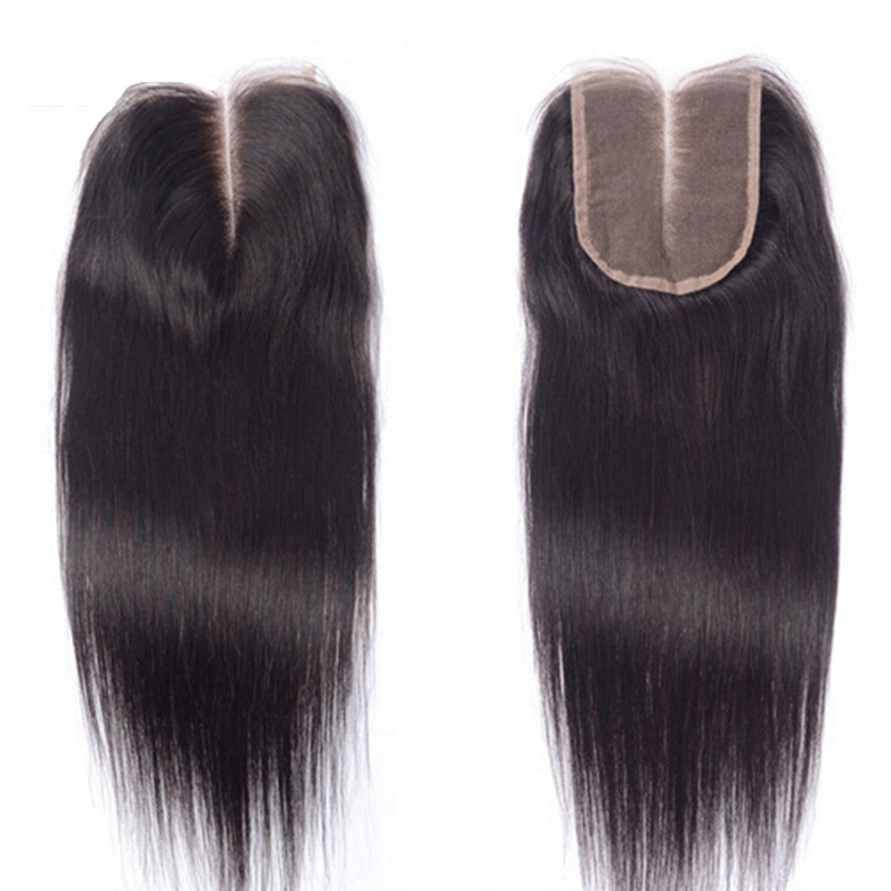 Luxury Straight Closure - Middle-Part