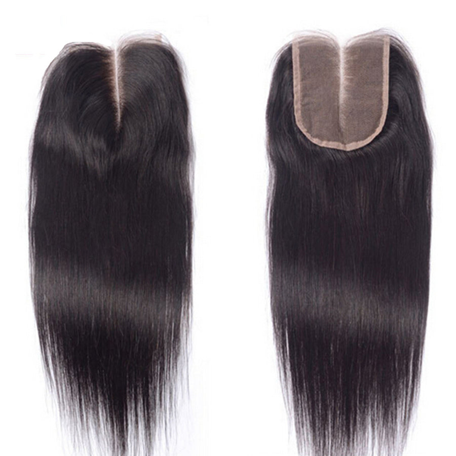 Luxury Straight Closure - Middle-Part - London Virgin Hair