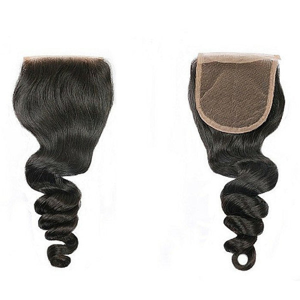 Luxury Loose Wave Closure - Free-Part - London Virgin Hair