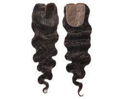 Luxury Loose Wave Closure - Middle-Part - London Virgin Hair