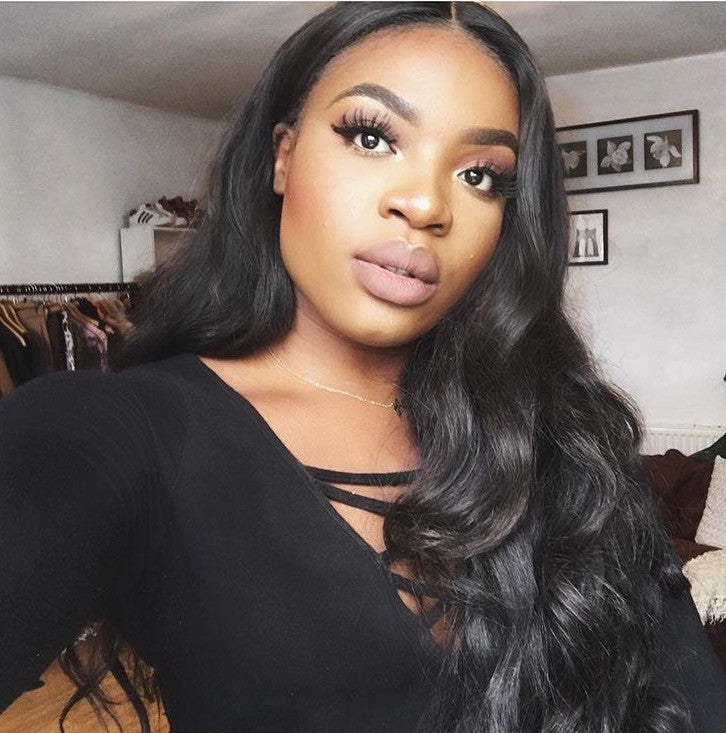 (SALE) Luxury Straight Wig - Middle-part - London Virgin Hair