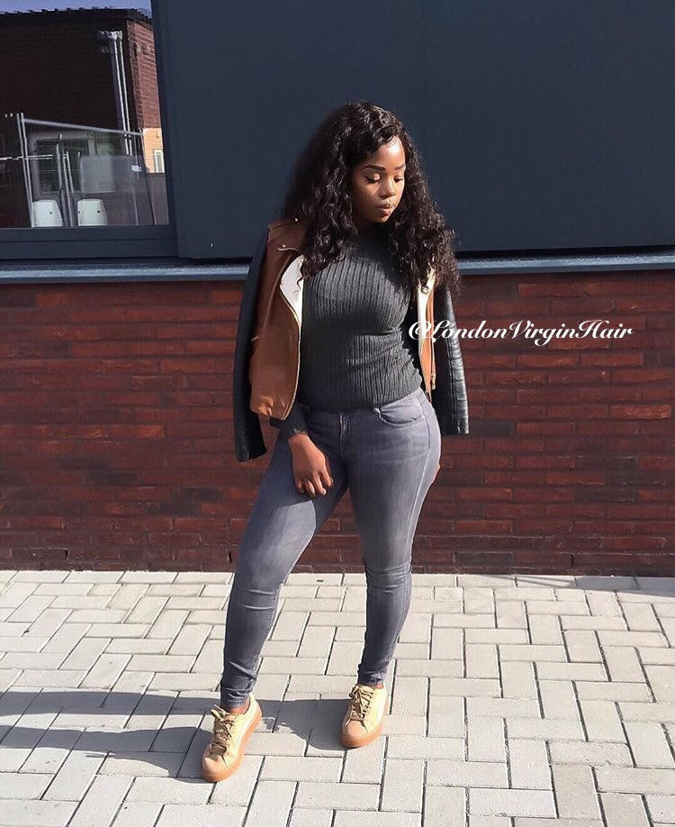 Luxury Deep Wave Bundles with a Lace Closure (14