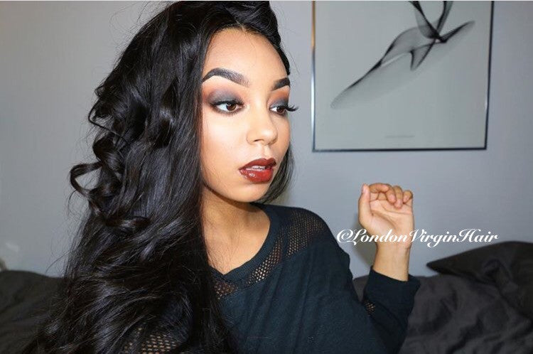 (SALE) Luxury Straight Wig - Three-part - London Virgin Hair