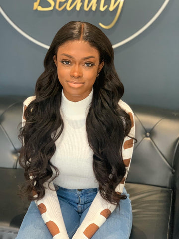 (SALE) Luxury Body Wave Wig - Middle-part