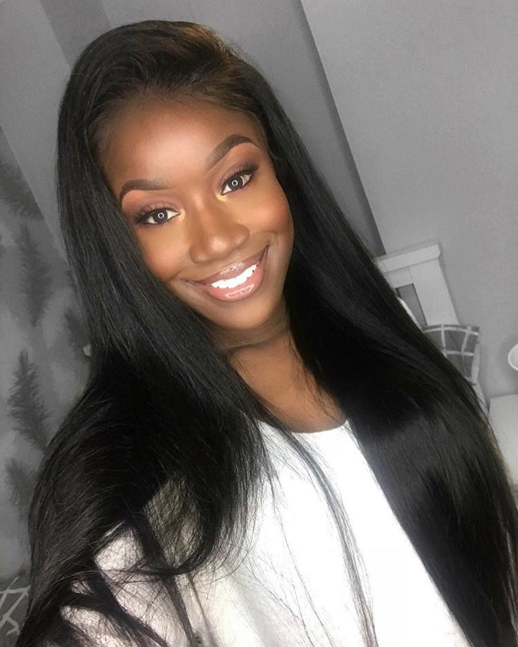 (SALE) Luxury Straight Wig - Free-part - London Virgin Hair