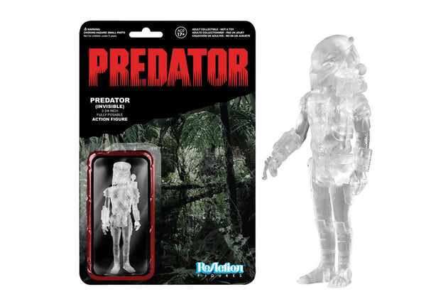 04095 - Funko Reaction Predator - Invisible Clear Masked Predator Retro Action Figure